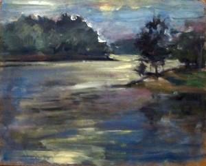 Monroe Lake oil sketch 014