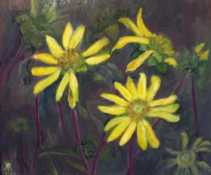 Wildflower Painting JerusalemArtichoke